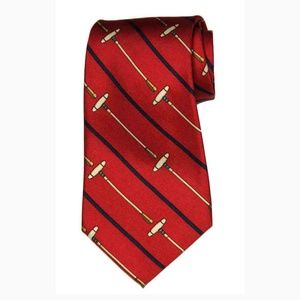 Vintage Polo by Ralph Lauren Silk Tie Red Men's